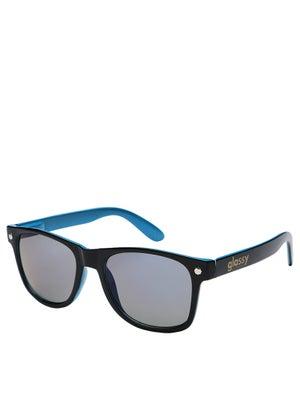 Glassy Leonard Sunglasses  Black/Blue/Blue Mirror