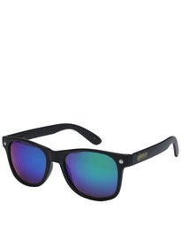 Glassy Leonard Sunglasses  Black/Green Mirror