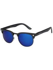 Glassy Morrison Polarized Sunglasses  Black/Blue Mirror