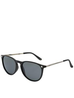 Glassy Mikey 2 Sunglasses  Matte Black/Silver Polarized
