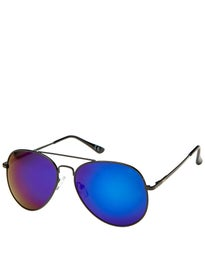 Glassy Daewon Sunglasses  Black/Blue Mirror Polarized