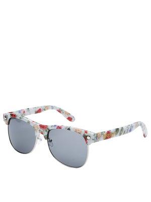 Glassy Shredder Sunglasses  White/Floral
