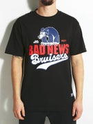 Grizzly Bad News Bruisers Stacked Logo T-Shirt