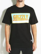 Grizzly Sunrise Stamp T-Shirt