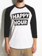 Happy Hour Stack Logo 3/4 Sleeve T-Shirt