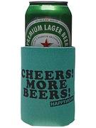 Happy Hour Cheers More Beers Koozie Teal