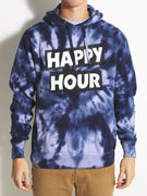 Happy Hour Winter Blues Tie Dye Hoodie