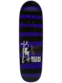 Heroin DMODW Striped Icon Deck  9.5 x 32.25