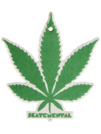 Skate Mental Green Weed Leaf Air Freshener