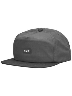 HUF Box Logo Snapback Hat Black