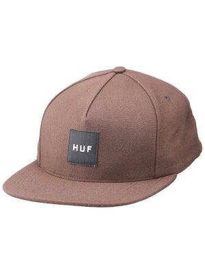 HUF Box Logo Snapback Hat Bison