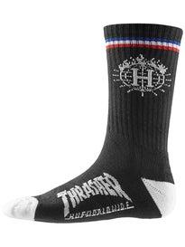 HUF Thrasher TDS Crew Socks & Can