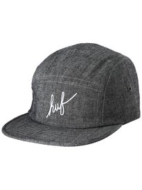 HUF Crosshatch Chambray Script Volley Hat