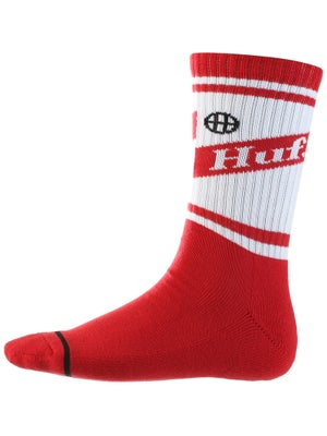 HUF Can Crew Socks Red