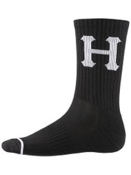 HUF Classic H Stripes Reflective Crew Socks