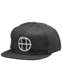 HUF Denim Circle H Snapback Hat