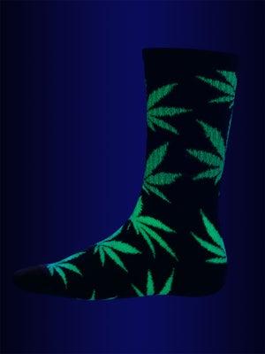 HUF Glow In The Dark Plant Life Socks Black