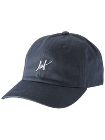 HUF Script Logo Curved Visor Strapback Hat