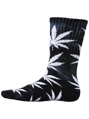 HUF Tie Dye Plant Life Socks Black/White