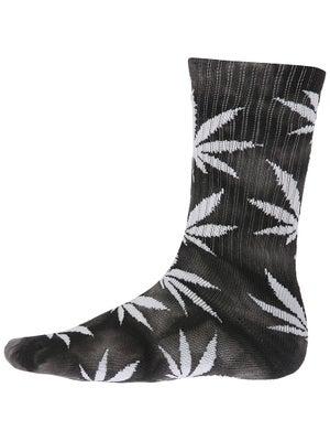 HUF Tie Dye Plant Life Socks Black/Grey