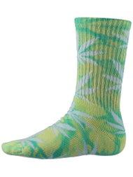 HUF Tie Dye Plant Life Socks