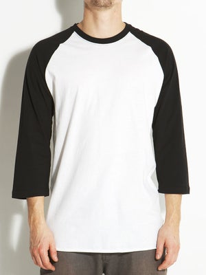 Hurley Staple Raglan Shirt White/Black XXL