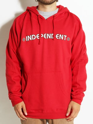 Independent Bar/Cross Hoodie SM Red