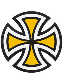 Independent Cut Cross 4x4 Sticker\  ellow