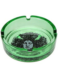 Independent Figgy Medusa Glass Ashtray  Green