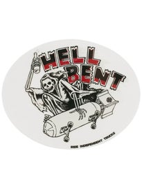 Independent Hell Bent 5 x 4 Sticker\  rey/Red