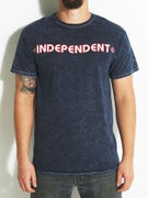 Independent Bar/Cross T-Shirt Mineral Navy