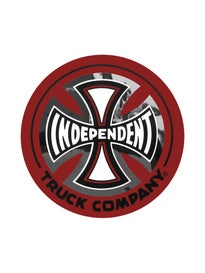 Independent Truck Co 3x3 Foil Sticker\  ed/Black