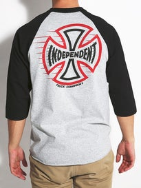 Independent T/C Speeding Cross 3/4 Sleeve Shirt