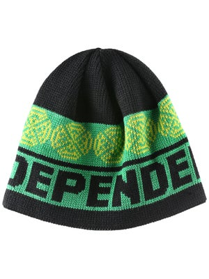Independent Woven Crosses Beanie Black/Green