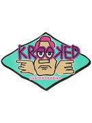 Krooked Arketype Sticker Teal Medium