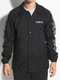 Krooked Eyes Flower Sleeves Coaches Jacket