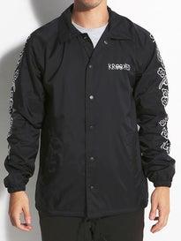Krooked Eyes Flower Sleeves Coaches Jacket