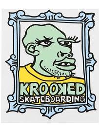 Krooked Frameface Medium Sticker Green