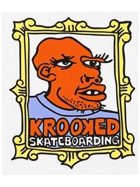 Krooked Frameface Medium Sticker Orange