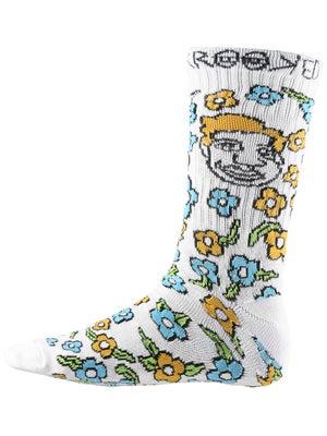 Krooked Sweatpants Socks One Size White