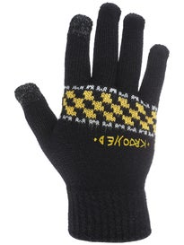 Krooked Zip Zinger Gloves Black