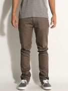 KR3W K Slim 5 Pocket Twill Pants Warm Grey