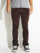 KR3W K Slim 5 Pocket Corduroy Pants Dark Chocolate