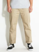 KR3W Klassic Cropped Chino Pants Dark Khaki