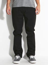 KR3W Klassic XL Rigid Chino Pants Black