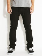 KR3W K Slim Jeans  Jet Black