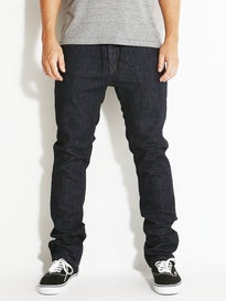 KR3W K Slim Jeans  Dark Blue