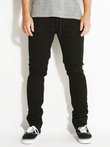 KR3W Skinny Jeans Jet Black