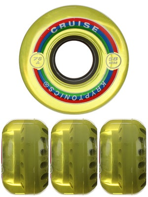Kryptonics Cruise Yellow 78A Wheels 58mm