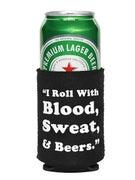 Lifeblood Blood Sweat and Beers Koozie